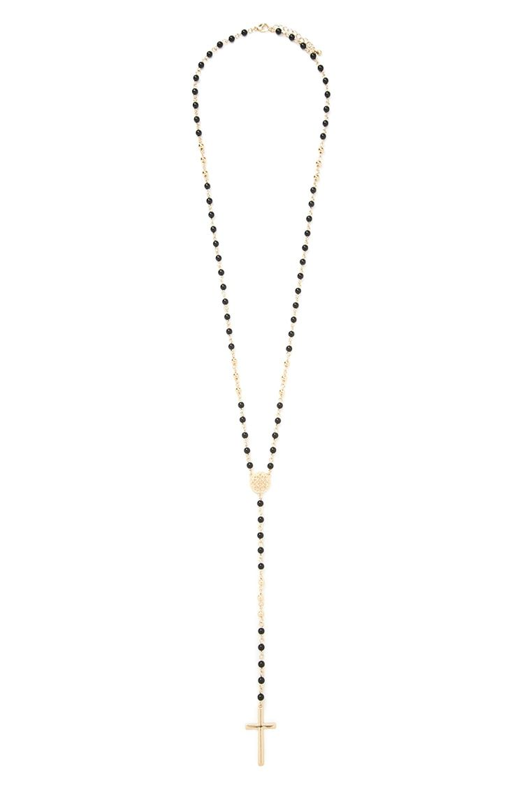 Cross Pendant Drop Necklace