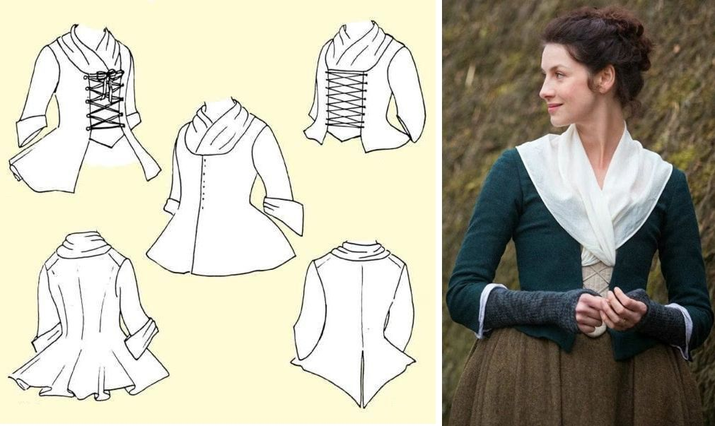 Outlander Wardrobe Detail Claire: Ladies Jacket and Fichu