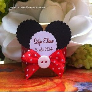 Marturii Borcan Miere Mickey Mouse Marturii Mickey Mouse Cupcakes