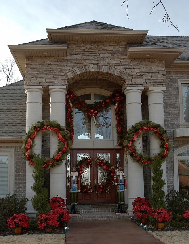 Use our extra large wreaths and garlands to create a for Hotel door decor