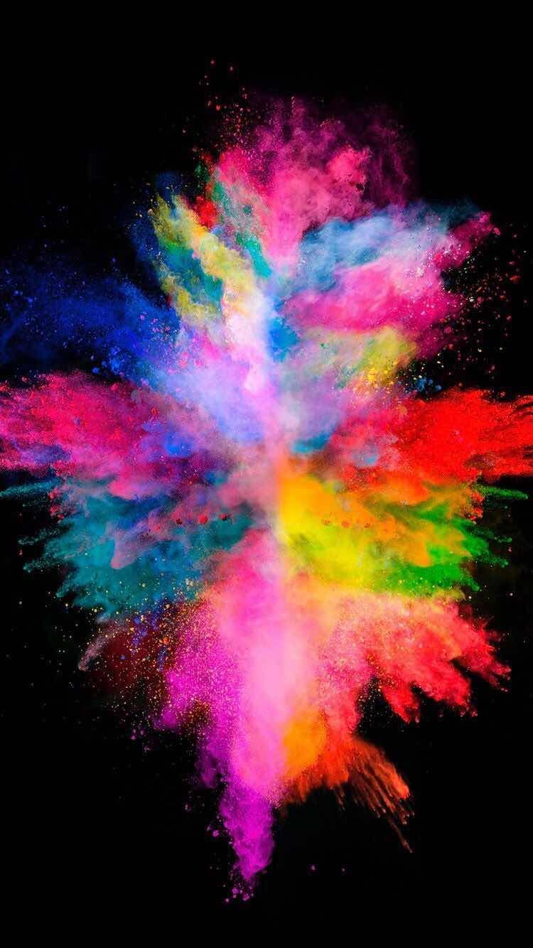 Iphone Ja Android Taustakuvat Color Explosion Taustakuva Iphonelle Ja Android Colourful Wallpaper Iphone Watercolor Wallpaper Iphone Iphone Wallpaper Glitter