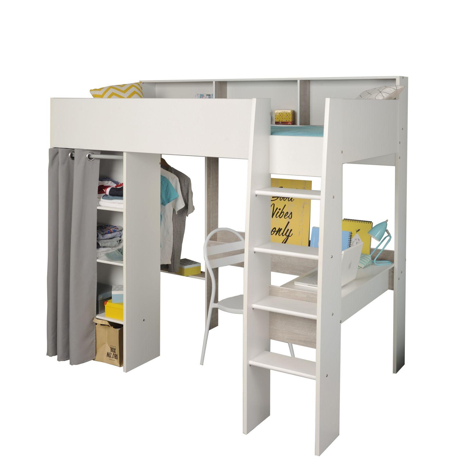 Schau Mal Was Ich Bei Roller Gefunden Habe Hochbett Taylor 11 Weiss Integrierter Schreibtisch In 2020 Integrierter Schreibtisch Kleiderschrank Jugendzimmer Weisser Schrank