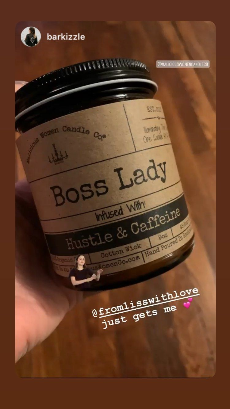 Boss lady infused with hustle caffeine scent