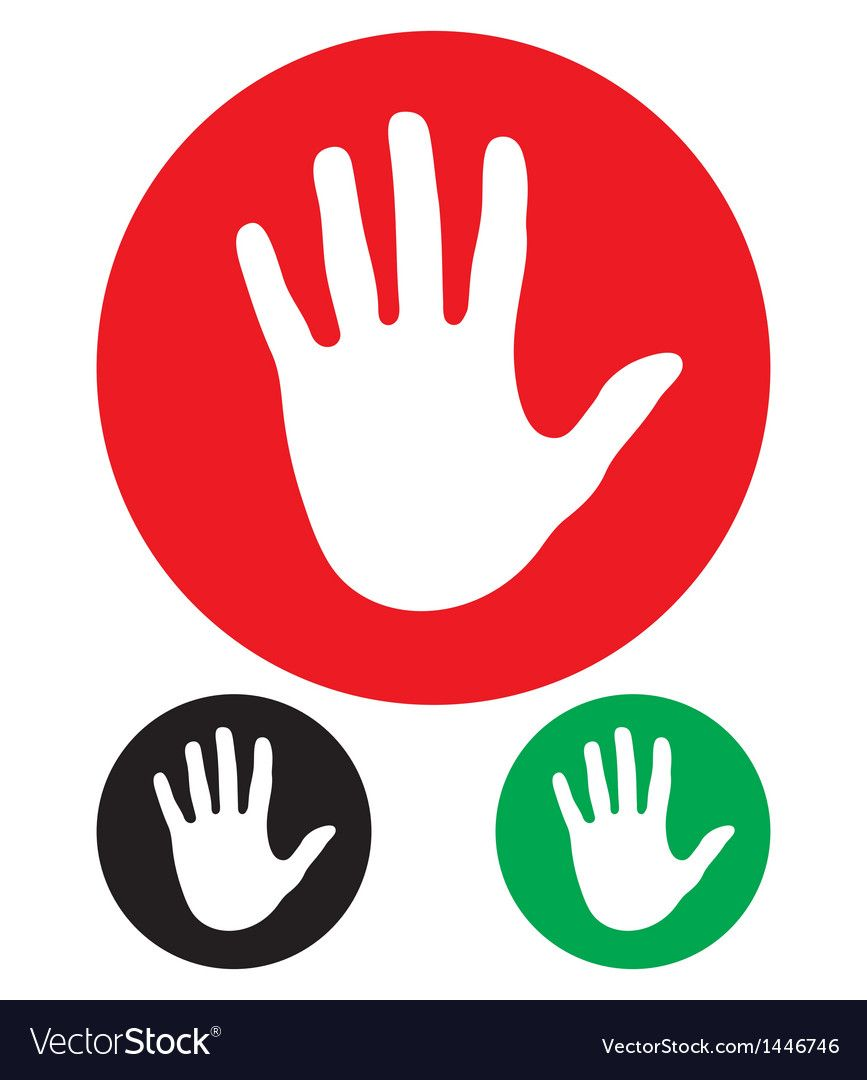 Stop Hand Sign Vector Image On Vectorstock Vector Free Vector Images Free Vector Images