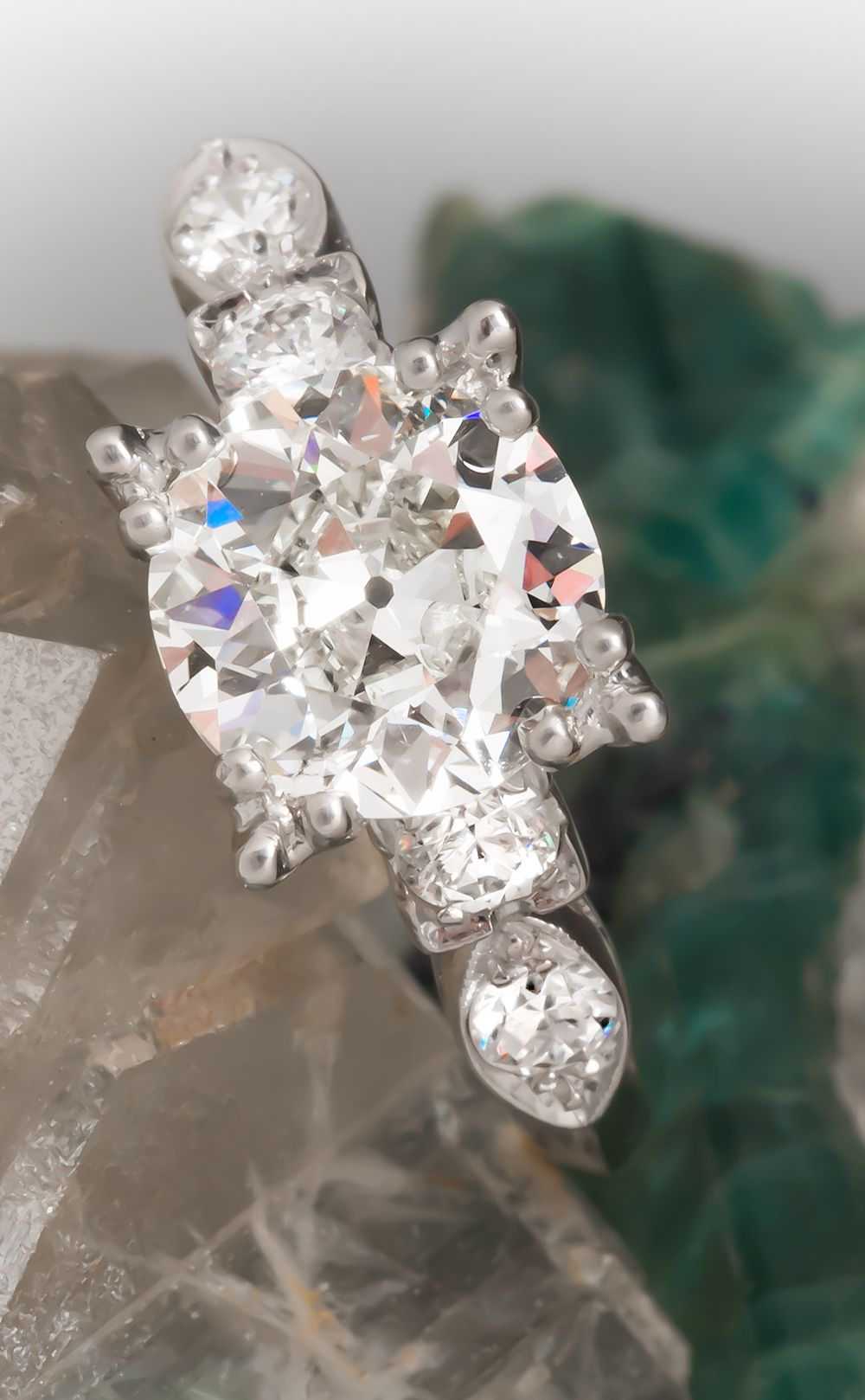 Vintage engagement ring on the rocks rings pinterest vintage