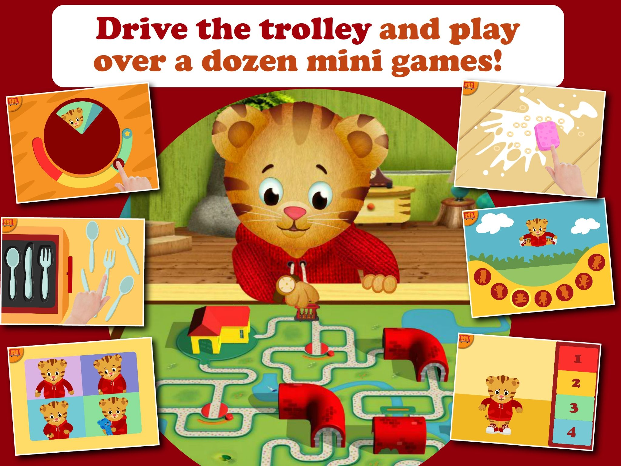 "The newest Daniel Tiger's Neighborhood app, ""Daniel Tiger"