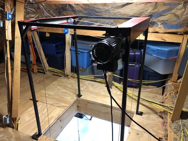 300 Lbs Steel Frame Lifts Attic Lift Garage Attic Lift Attic