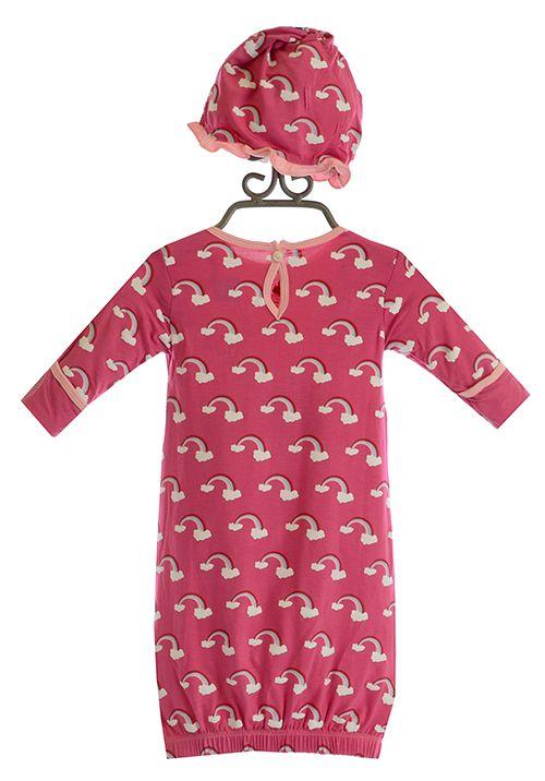 KicKee Pants Rainbow Baby Girls Hat and Gown | Kickee Pants ...