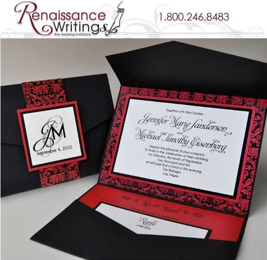 Renaissance Writings Wedding Invitations Nationwide Wedding