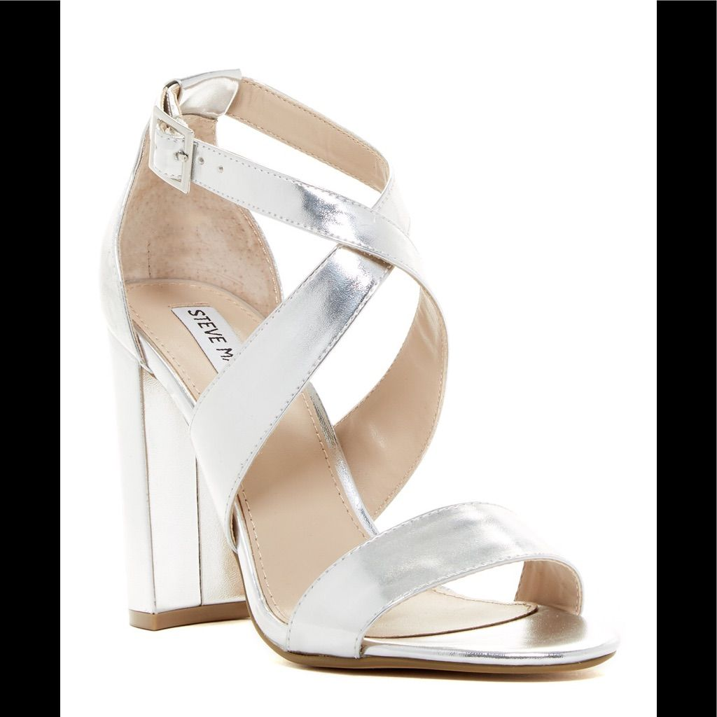 f909a9231e2 Steve Madden Shoes   Silver Steve Madden Strappy Heels   Color ...