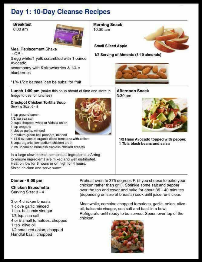 Day 1:10 Day Cleanse Recipes More