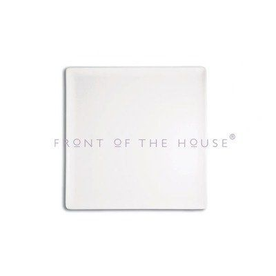 """12"""" Sq Mod Plate [Set of 4] by Front Of The House. $124.00. DOS005WHP21 Features: -Square plate.-Super white glaze that will not fade or stain.-Durable in nature.-Chip resistant with reinforced corners and rims.-Microwave safe.-Oven safe.-Dishwasher safe.-Stackable. Construction: -Porcelain construction. Color/Finish: -White finish. Dimensions: -Overall dimensions: 0.5'' H x 12'' W x 12'' D. Collection: -Mod collection."""