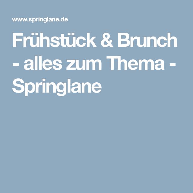 Frühstück & Brunch - alles zum Thema - Springlane