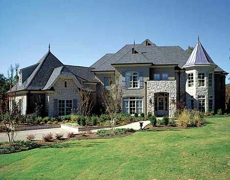Plan 5477LK Modern French Country Estate