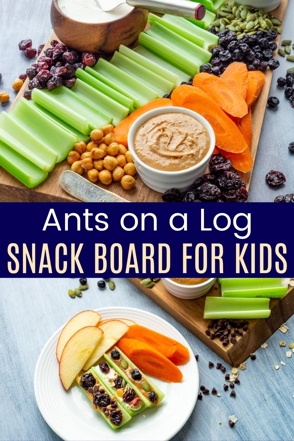 Ants On A Log Snack Platter For Kids Start With Celery Carrots And Apples And Add Peanut Butter Kids Snack Food Delicious Appetizer Recipes Snack Recipes