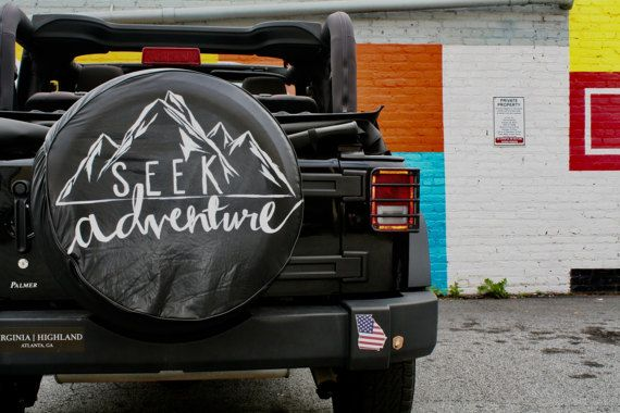 Seek Adventure Jeep Tire Cover By Alexandrasartstudio On Etsy