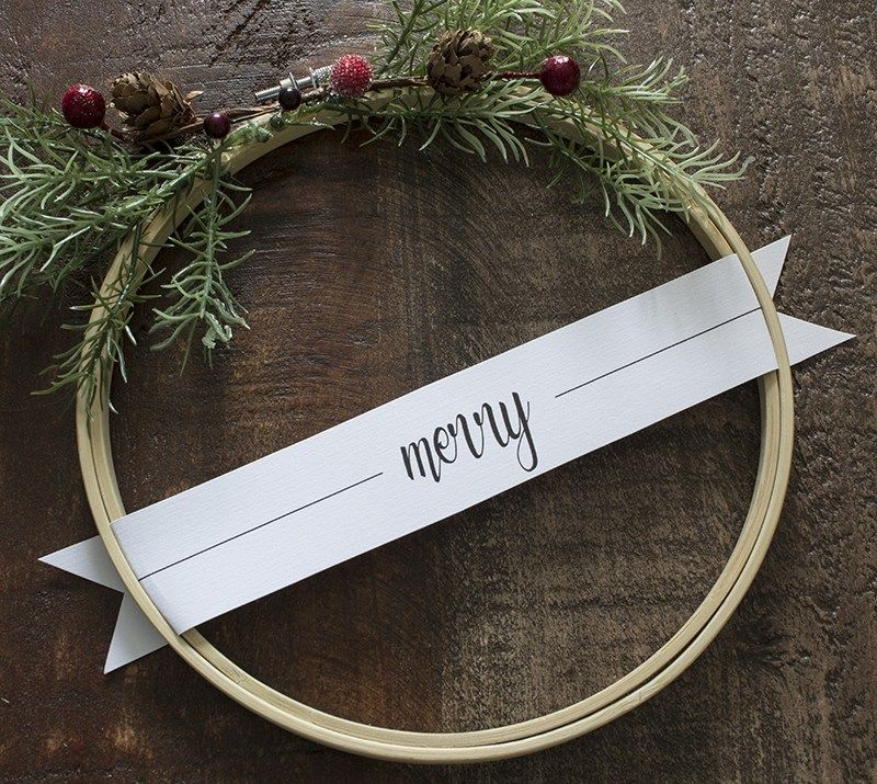 Photo of DIY Merry Christmas Embroidery Hoop Wreath Set – With Free Printable Tags