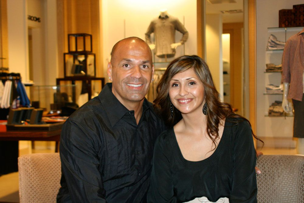 Erika and Jeff Zamora at Saks Fifth Avenue for the TCBF fundraiser. (Melissa Walker / Noozhawk photo)