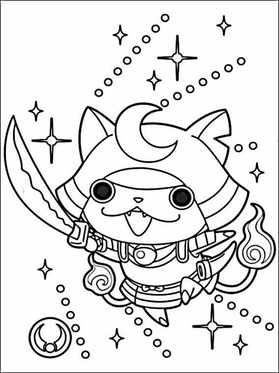 Yo Kai Watch Coloring Pages 7