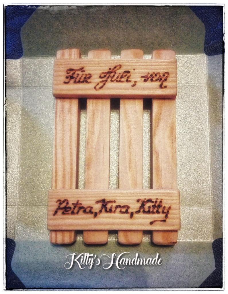 Seifenablage selber machen aus Holz Holzbrennen persönliche Widmung ...