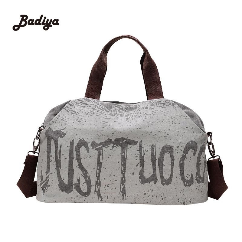 Vintage Womens Duffel Bag Canvas Women Travel Bags Carry On ...
