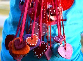 Salt dough heart pendants things to make and do crafts and salt dough heart pendants things to make and do crafts and activities for kids aloadofball Choice Image