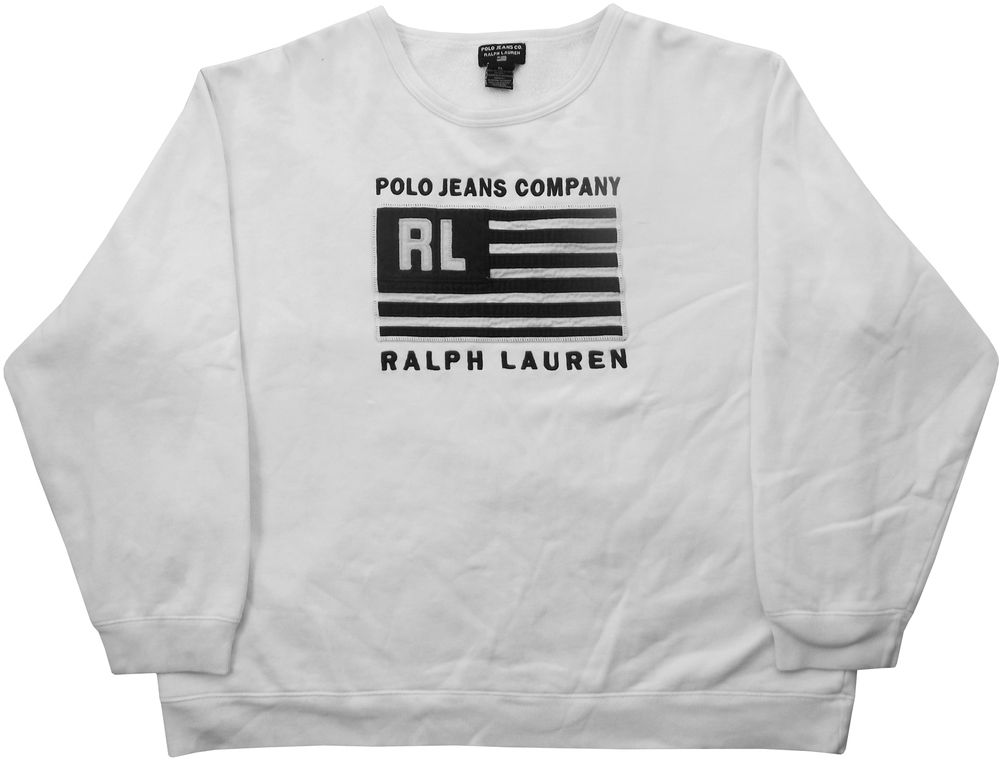 c45b52775b407 Image of Vintage Ralph Lauren Polo Jeans Co Sweatshirt Size Large ...