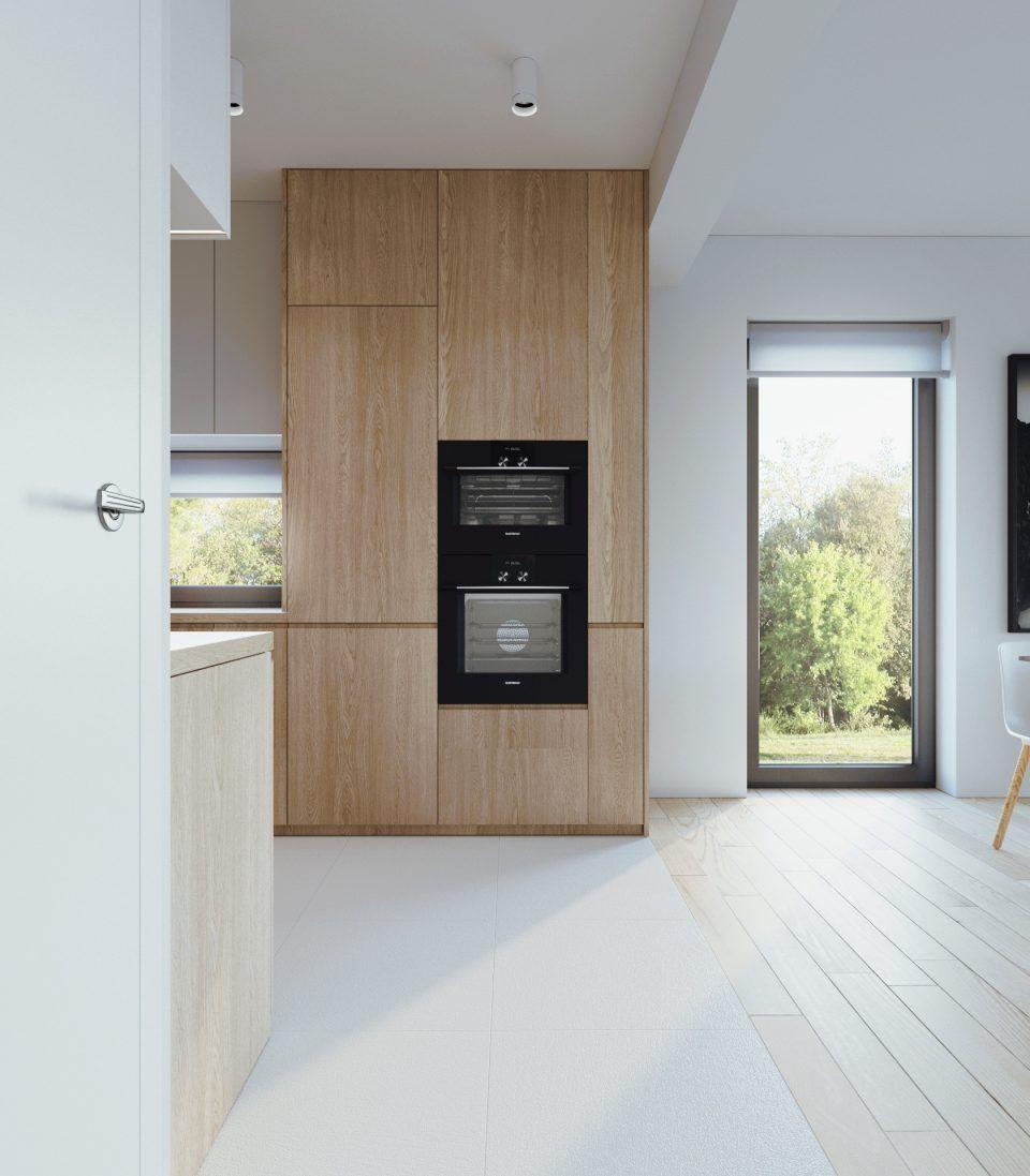 081 Architekci Projekt Wnetrz Mieszkanie Sl Lublin Kuchnia 01 Modern Kitchen Design Kitchen Design Home Design Floor Plans