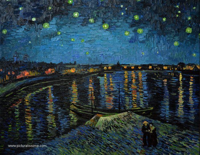 La Nuit étoilée sur le Rhône | Nuit étoilée, Nuits ...