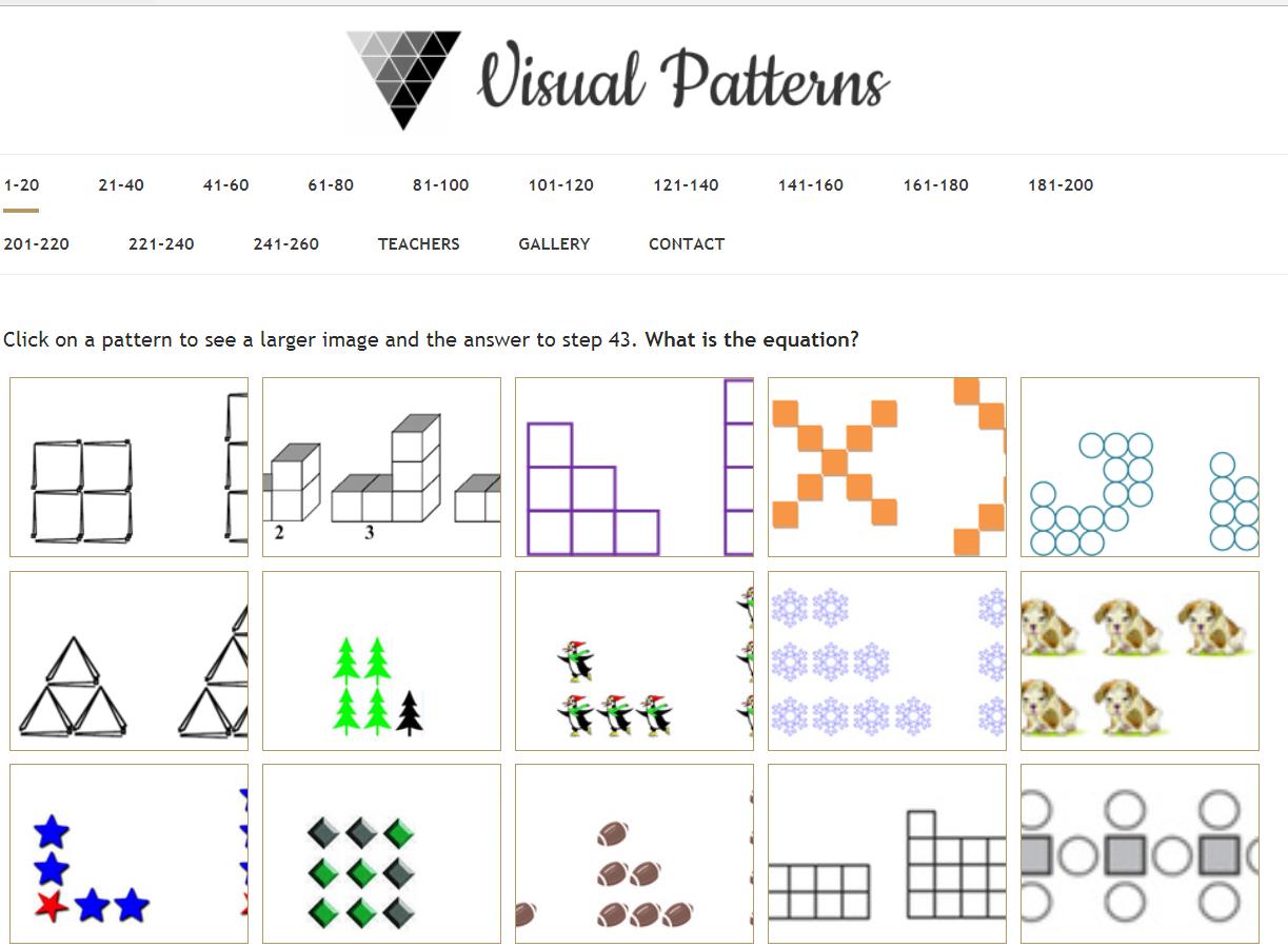 Visual Math Patterns Math Patterns Pattern Math Resources