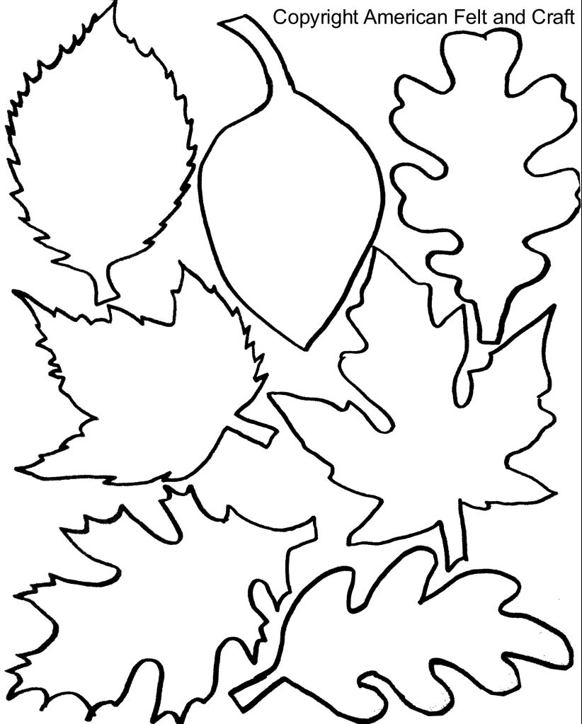 Fall Felt Leaves with Templates Fall leaves coloring
