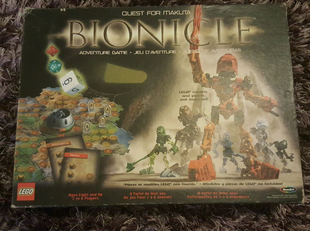 Lego Bionicle Board Game Never played box has some wear