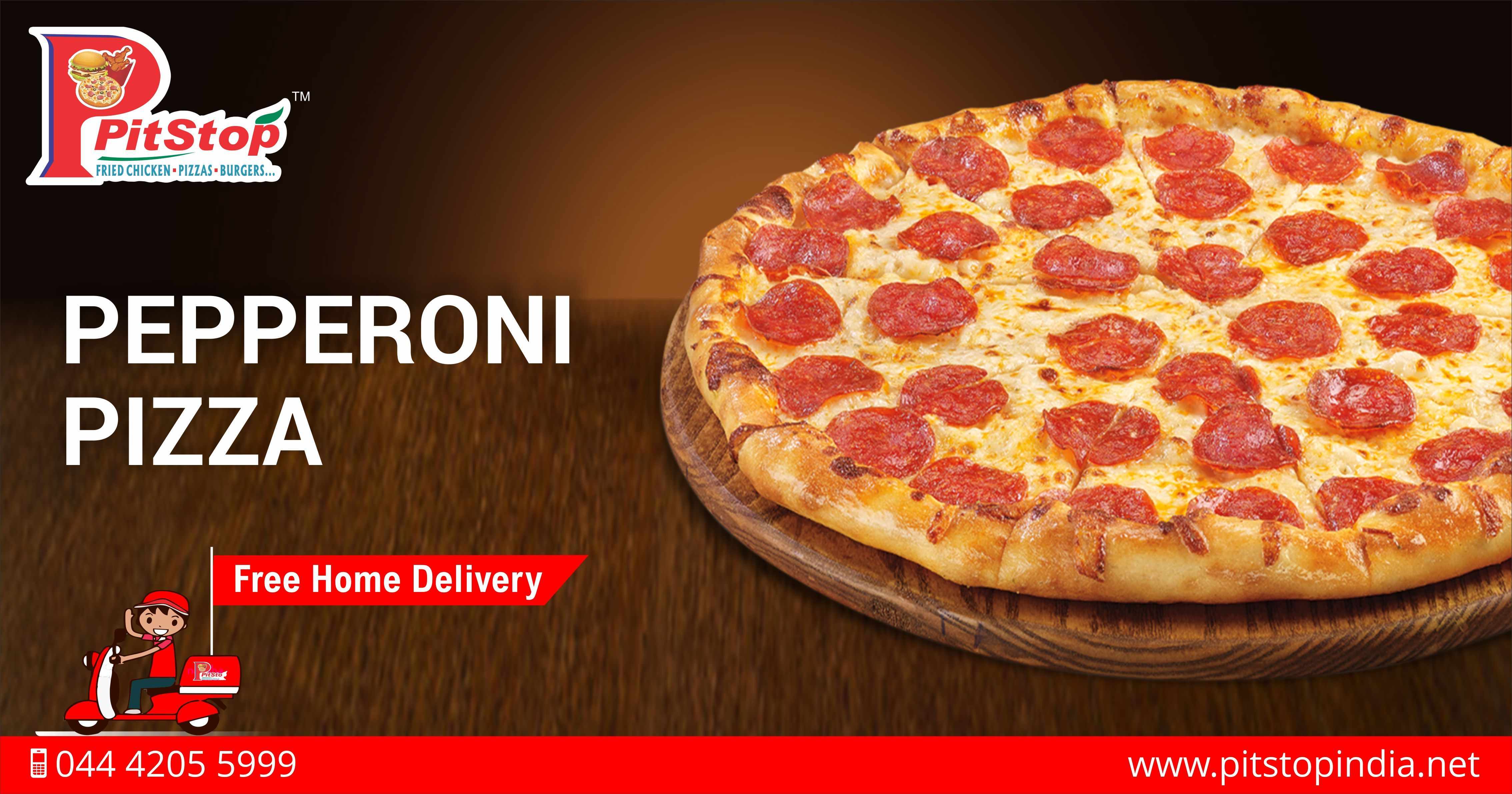 Order tasty Pepperoni Pizza online from www.pitstopindia