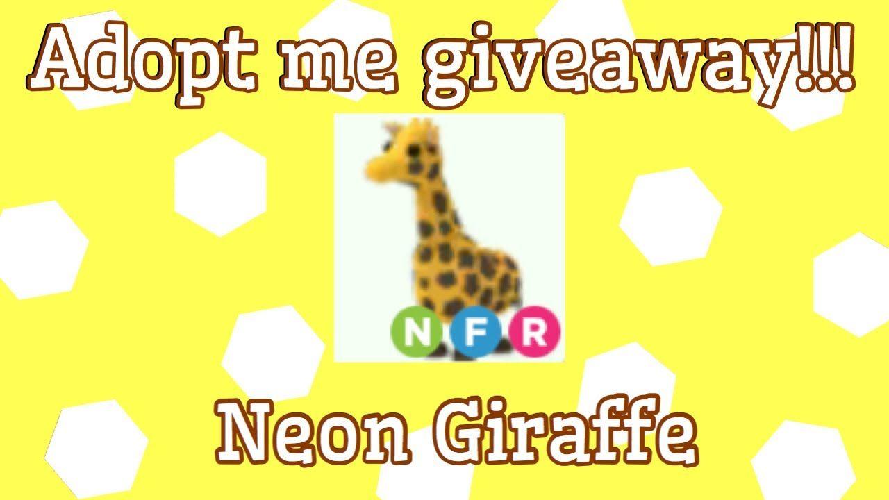 Adopt Me Giveaway Neon Giraffe Adopt Me Roblox Pet Adoption Certificate My Roblox Adoption