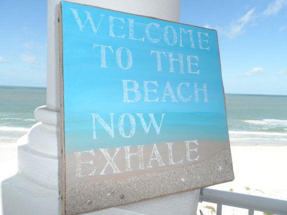 Beach Welcome Sign Pretty Decor