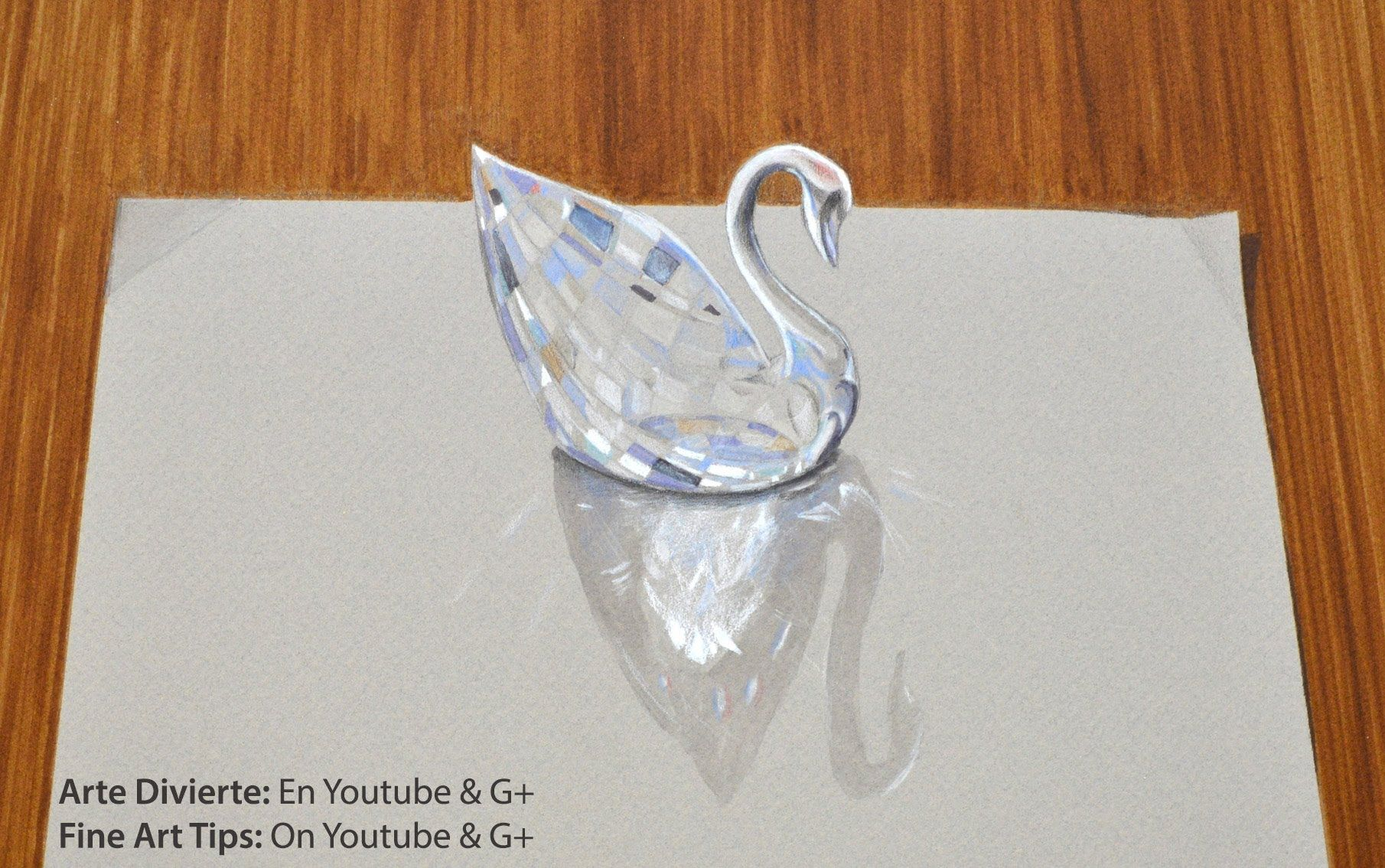 59f818a4c60d How to Draw a Swarovski Crystal Swan - Amazing Drawing in 3D - Как нарис.