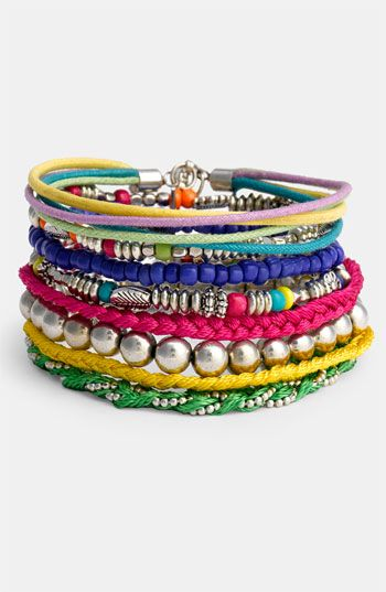 Stephan & Co. mixed media bracelets $ 16 - Cute especially for Summer with tanks and shorts.
