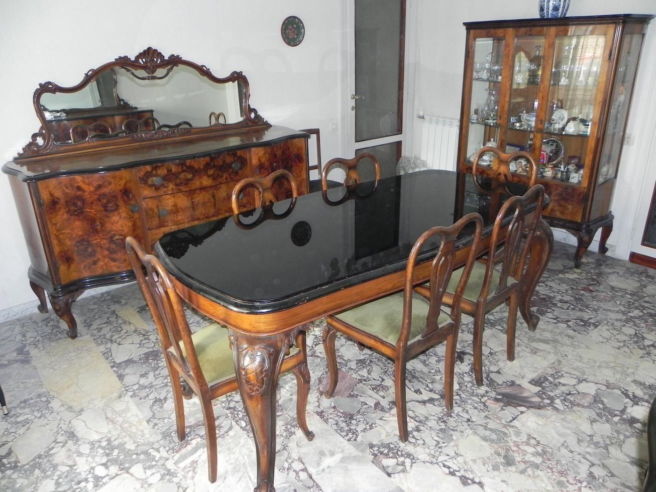 Sedie Stile Chippendale : Stile chippendale anni 40 sala da pranzo stile barocco veneziano