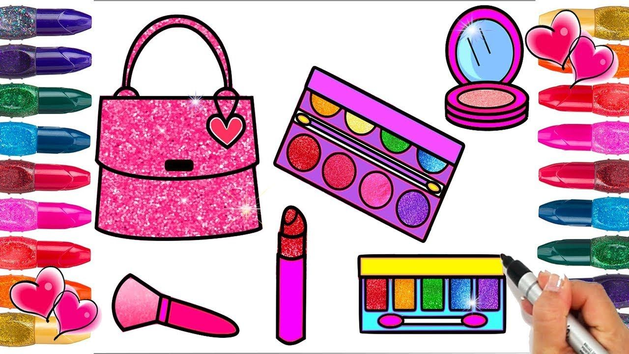 Glitter Makeup Coloring Page Glitter Coloring Pages Glitter Coloring Coloring Pages Glitter Makeup Coloring Books