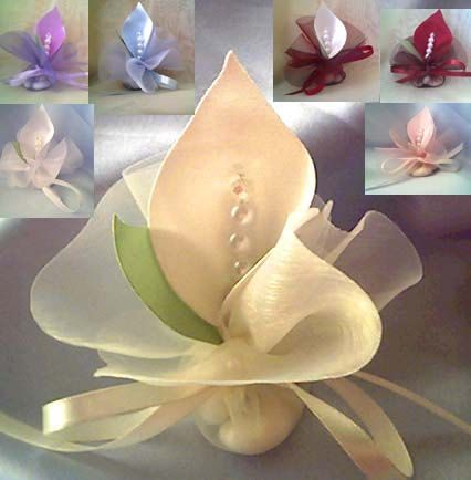 wedding favors calla lily crystal ivory white or by adiart1, $1.30 I just think they are pretty.