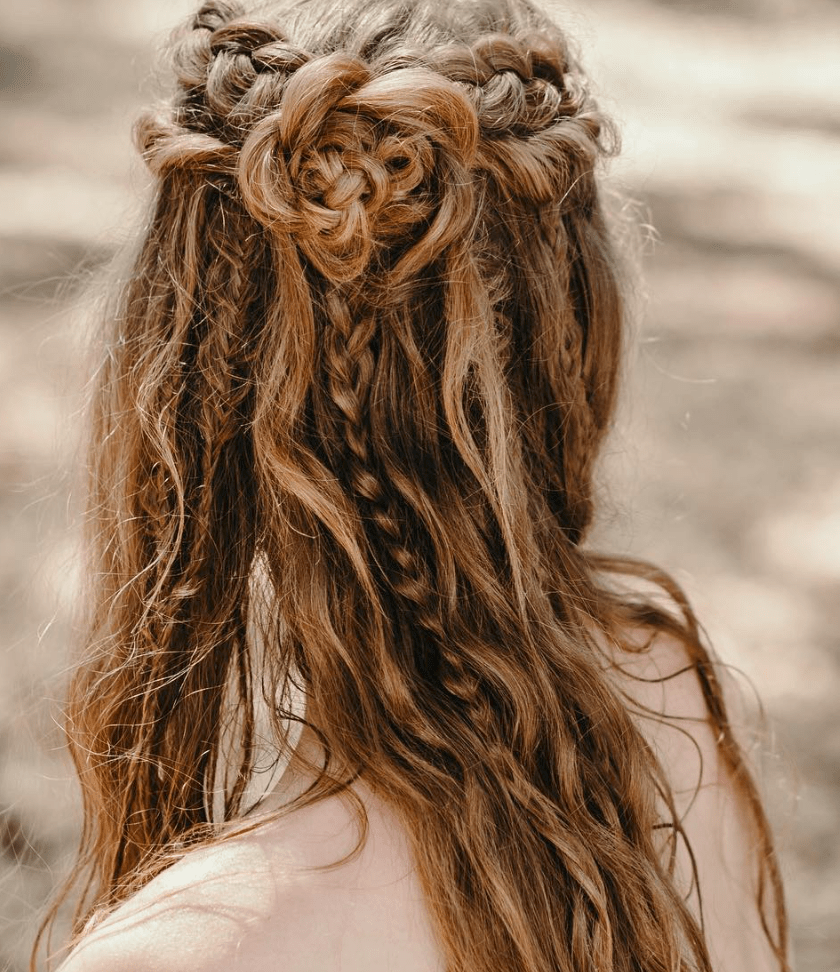 10 Bohemian Hairstyles for your Dreamy Wedding Day 647111040188356441
