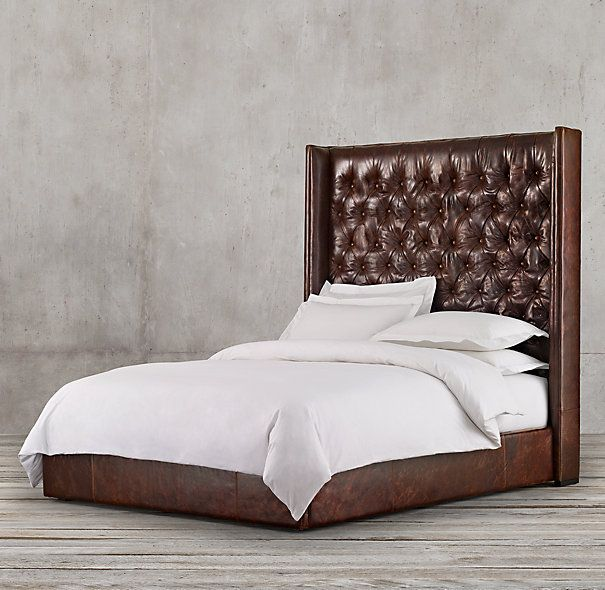 Adler Tufted Leather Bed Leather Platform Bed Leather Bed Leather Bedroom