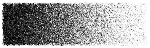 an example of dot (pontillism) tonal scale drawing created in charcoal