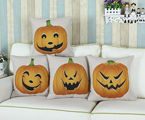 "Euphoria Home Decorative Cushion Covers Pillows Shell Cotton Linen Blend Halloween Pumpkin Heads 18"" X 18"" Euphoria http://www.amazon.com/dp/B00OF0PYCK/ref=cm_sw_r_pi_dp_ZLK7vb0EPDYDS"