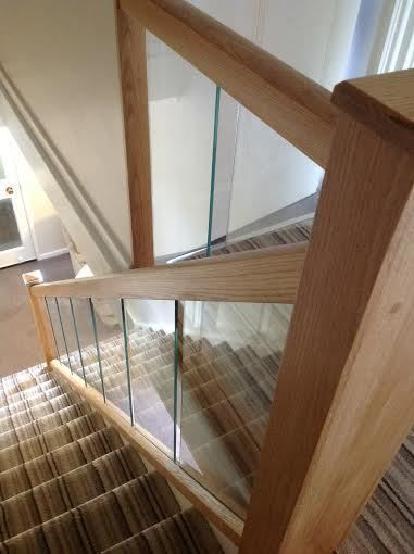 Reflections Glass And Oak Balustrade Refurbishment Kit Staircase | Glass And Oak Banister | Minecraft | Traditional | Stair Case | House | Designer