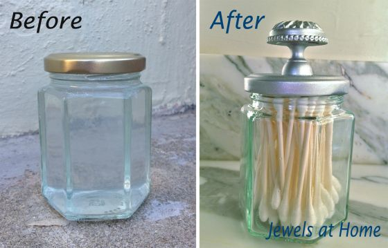 Silver Spray Paints u2013 DIY Apothecary Jar and Painted Screen