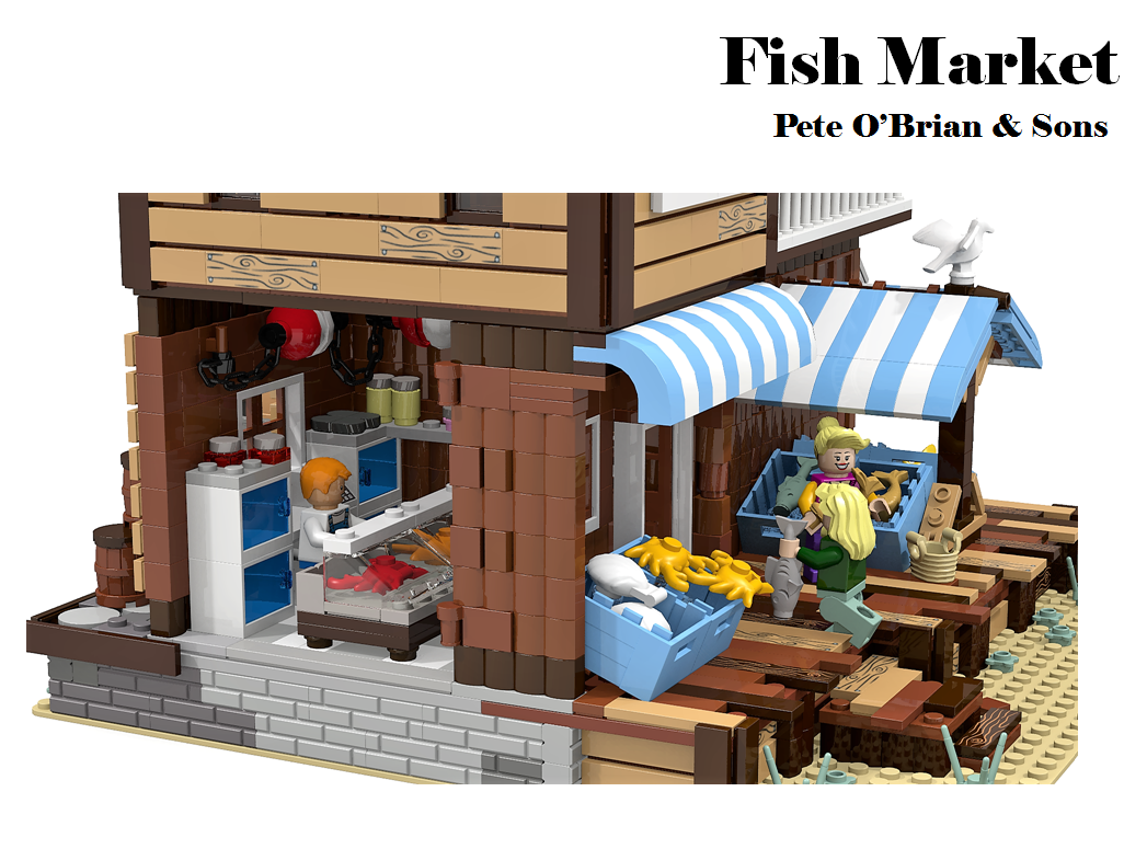 Fish Market Lego Room Lego Fish Lego Projects