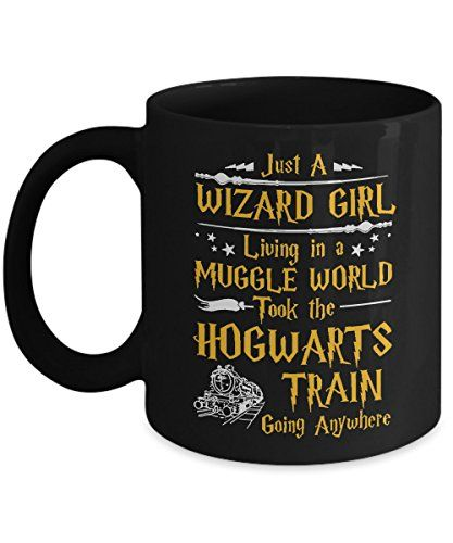 Wizard Girl Harry Potter Fans Coffee Mug  Funny Coffee/Tea Time Cup  Perfect gift for Christmas and Birthday  Black  11 Ounce