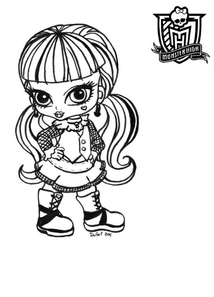 Free Printable Monster High Coloring Pages For Kids Monster Coloring Pages Monster High Characters Baby Coloring Pages