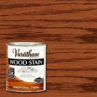 Varathane 1 Qt Traditional Cherry Premium Fast Dry Interior Wood Stain 2 Pack 266174 The Home Depot Staining Wood Cherry Wood Stain Varathane Wood Stain